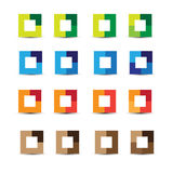 Abstract design elements square Stock Photo
