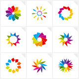 Abstract design elements. Vector. Vector illustration depicting abstract colorful design elements set Stock Photo