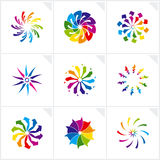 Abstract design elements. Vector. Vector illustration depicting abstract colorful design elements set Royalty Free Stock Photo