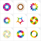 Abstract design elements. Vector. Vector illustration depicting abstract colorful design elements set Stock Photos