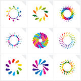 Abstract design elements. Vector. Vector illustration depicting abstract colorful design elements set Royalty Free Stock Images
