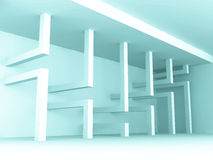 Abstract Design Empty Room Interior Architecture Background. 3d Render Illustration Royalty Free Stock Image