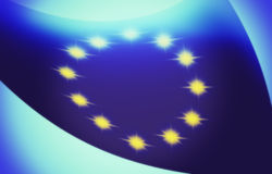 Abstract design for the european flag Stock Images