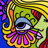 Abstract design with eye and face Stock Images