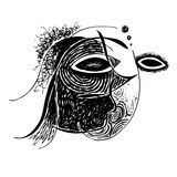 Abstract design face Royalty Free Stock Photography