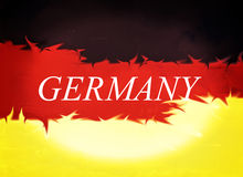 Abstract design, Flag of Germany Stock Image
