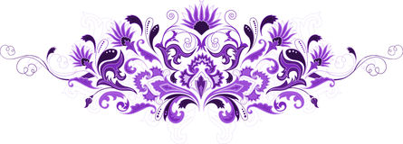 Abstract design floral elements Stock Image