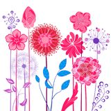Abstract design flowers. Spring, summer floral background Stock Images