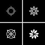 Abstract design flowers Royalty Free Stock Photos