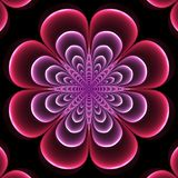 Stylized symmetrical flower. Abstract design in fractal art style - symmetrical flower Stock Photos