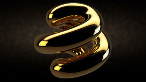 Abstract design gem gold Royalty Free Stock Photo