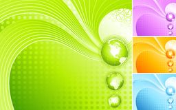 Abstract design with globe. Stock Images