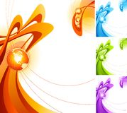 Abstract design with globe. Royalty Free Stock Photography