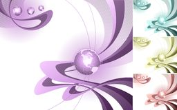 Abstract design with globe. Royalty Free Stock Images