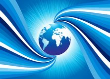 Abstract design with globe. Vector illustration Royalty Free Stock Photo
