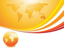 Abstract design with globe. Vector illustration Royalty Free Stock Image