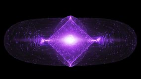 Abstract Design With Glowing Light Particles Orbiting Around A Tokamak Or Doughnut-Shaped Device Royalty Free Stock Photos