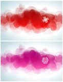 Abstract design with hearts. Stock Photography