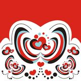 Abstract design with hearts Stock Images