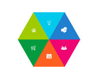 Abstract design with hexagon stock illustration