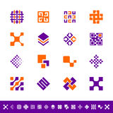 Abstract design icons. Set of 16 abstract design icons Vector Illustration