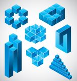 Abstract design, impossible objects. Vector illustration for your artwork royalty free illustration