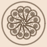 Abstract design in indian style. With paisleys in brown and beige colors Royalty Free Stock Photography