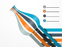 Abstract design for infographic. Royalty Free Stock Image