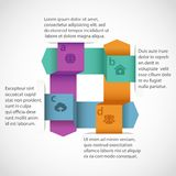 Abstract design infographics Stock Photos