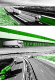Abstract Design international shipment and highway Stock Photography