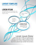 Abstract design layout template Royalty Free Stock Photography