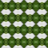 Abstract design with lines and geometric patterns on a surface with green and white threads, background and texture. Backdrop for colors related ads, geometric vector illustration