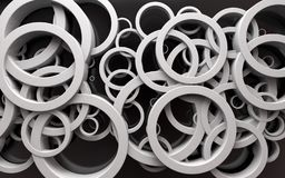 Abstract design of loops and rings.3d illustration stock photos