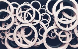 Abstract design of loops and rings.3d illustration stock photography
