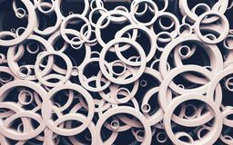 Abstract design of loops and rings.3d illustration royalty free stock photo