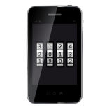 Abstract design mobile phone Royalty Free Stock Image