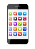 Abstract Design Mobile Phone with Glass Button Royalty Free Stock Photography