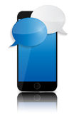 Abstract Design Mobile Phone with Speech Bubbles. Royalty Free Stock Image
