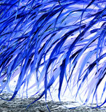 Abstract design from nature. Beautiful blue shimmering backdrop image.n Royalty Free Stock Photo