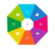 Abstract design with octagon stock illustration