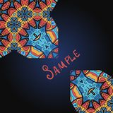 Abstract design ornate style in blue and red Stock Photo
