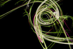 Abstract design with pink and green light waves Stock Photography