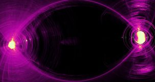Abstract Patterns On Dark Background With Purple And Yellow Lines Curves Particles stock video footage