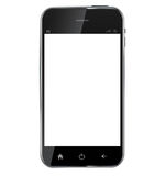 Abstract design realistic mobile phone with blank Stock Photo