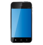 Abstract design realistic mobile phone with blank Royalty Free Stock Images