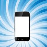 Abstract Design Realistic Mobile Phone with Blank Stock Image