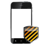 Abstract design realistic mobile phone with Royalty Free Stock Photography