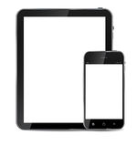 Abstract design realistic mobile phone and tablet Royalty Free Stock Images