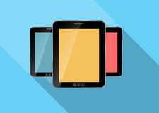 Abstract design realistic tablet flat icon. Vector Stock Images
