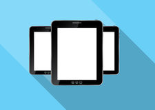 Abstract design realistic tablet flat icon. Vector Royalty Free Stock Image